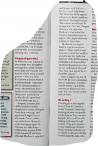 The Oldie magazine reports the frustrations at Regent Court this month