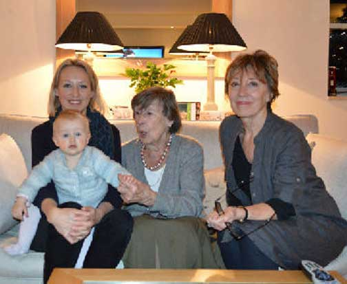 Alex Ellison (right) with her mother, Barbara Weston, daughter and grand-daughter. Alex wants to know whether complicated transferral of assets from retirement sites is lawful