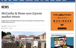 Will hedge-funders clean up in £500 million float for McCarthy and Stone?