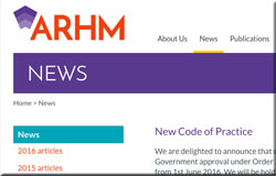 ARHM code of practice is launched