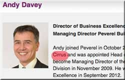 Andy Davey promoted. He headed Cirrus during Peverel's price-fixing