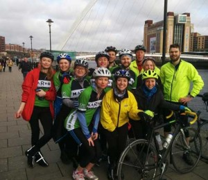 Our group makes it to Newcastle after crossing the Pennines