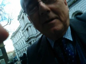 "Sir Peter Bottomley fires off a ""selfie"""