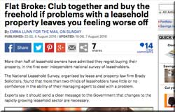 To stop being pushed around, go for right to manage or buy the freehold, says Mail on Sunday