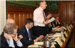 Packed Campaign against retirement leasehold exploitation meeting at Westminster for leasehold reform