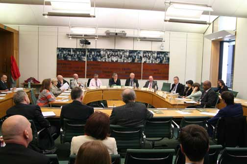 The Campaign against retirement leasehold exploitation roundtable meeting at Westminster yesterday